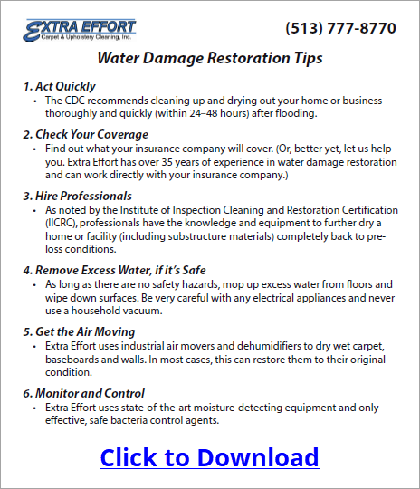 Water Damage Restoration Guide - West Chester, OH